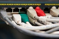 Ethernetnätverksströmbrytare royaltyfria bilder