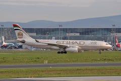 Ethiad A330 Imágenes de archivo libres de regalías