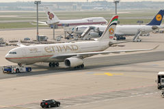 Ethiad A330. Image can be used todepict different articles regarding this company Stock Image