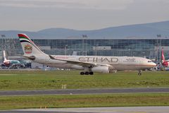 Ethiad A330 Royalty Free Stock Images