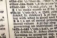 Ethic ethics ethical moral definition dictionary. Ethic ethics ethical moral dictionary definition book values royalty free stock images