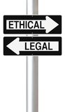 Ethical or Legal Royalty Free Stock Photos