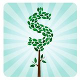 Ethical Money Tree. Eco Ethical Money Tree Investment - Vector Royalty Free Stock Photo