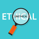 Ethical unethical concept comparison for moral behavior. Vector stock illustration