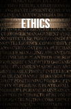 Ethics. In Business as Motivation in Stone Wall Royalty Free Stock Images