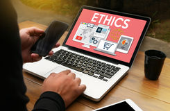ETHICS , Business Team ETHICS , Business Ethics Integrity Honest. Y Trust and Business , Justice Law Order Legal Ethics , Ethical and Legal  , Business Ethics Royalty Free Stock Photography