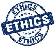 Ethics grunge round vintage rubber stamp Stock Photo