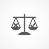 Ethics icon. Gray Ethics icon on white background Stock Photos