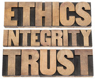 Ethics, integrity, trust Stock Image