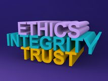 Ethics integrity trust Stock Images