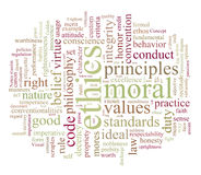 Ethics and morales. Word or tag cloud Stock Images