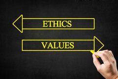 Free Ethics Or Values Arrows Concept. Stock Image - 191572091