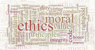 Ethics and principles word cloud Stock Images