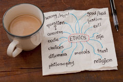 Ethics related topics Stock Image