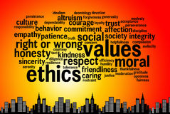 Ethics. Relevant topics regarding ethics and values Royalty Free Stock Photography