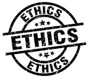 Ethics round grunge stamp Royalty Free Stock Image