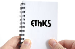 Ethics text concept Royalty Free Stock Photos