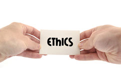 Ethics text concept Stock Image