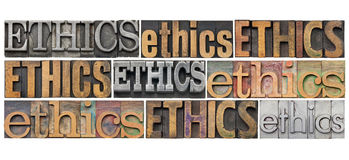 Ethics word abstract Royalty Free Stock Photography