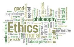 Ethics Word Cloud Stock Photo