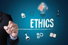 ETHIEK, Commerciële Teamethiek, Bedrijfs Eerlijke Ethiekintegriteit stock foto