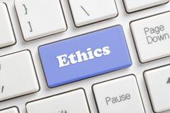 Ethik befestigt auf Tastatur Stockbild