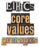 Ethik, Kernwerte, Grundregeln Stockfoto