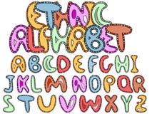 Ethinic latin alphabet Stock Image