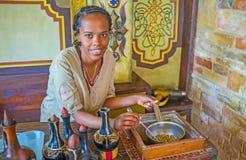 Ethiopean女孩画象在工作 库存图片