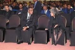 Ethiopia's först - någonsin kvinnligt statschefSahle-arbete Zewde, ersättare Prime Minister Demeke Mekonnen royaltyfri bild