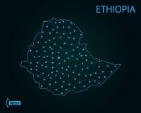 ethiopia översikt också vektor för coreldrawillustration gammal värld för illustrationöversikt vektor illustrationer