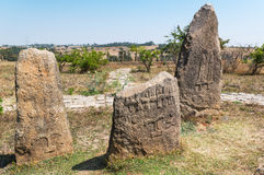 Ethiopia. Addis Ababa, the funerary steles of the Tiya archaeological site Stock Photography