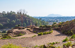 Ethiopia. Adigrat, farmer houses in the outskirts of the village Stock Image