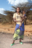 African woman and child Royalty Free Stock Image