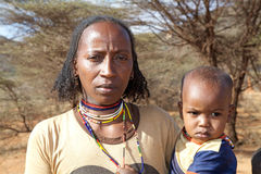 African woman and child Royalty Free Stock Photo