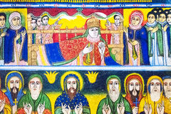 Ethiopia. Axum, holy paintings in the ancient church of Our Lady Mary of Sion Stock Photography