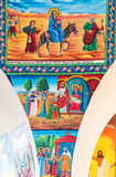 Ethiopia. Axum, holy paintings in the modern church of Our Lady Mary of Sion Stock Photo