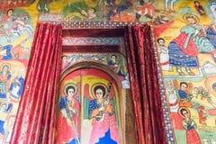 Ethiopia. Bahir Dar, the medieval  holy paintings of  the Betremariam Ortodox monastery Royalty Free Stock Photo