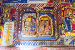 Ethiopia. Bahir Dar, the medieval holy paintings of the Betremariam Ortodox monastery stock photography