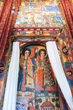Ethiopia. Bahir Dar, the medieval holy paintings of the orthodox church of Azwa Mariam Royalty Free Stock Photo