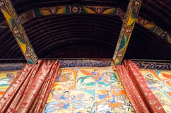 Ethiopia. Bahir Dar, the medieval holy paintings of the orthodox church of Azwa Mariam Stock Images