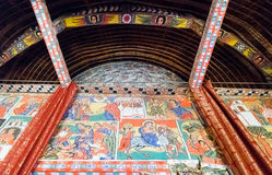 Ethiopia. Bahir Dar, the medieval holy paintings of the orthodox church of Azwa Mariam Royalty Free Stock Images