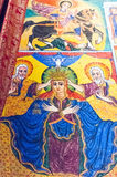 Ethiopia. Bahir Dar, the medieval holy paintings of the orthodox church of Azwa Mariam Stock Image