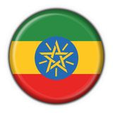 Ethiopia button flag round shape Royalty Free Stock Images