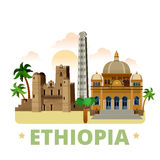 Ethiopia country design template Flat cartoon styl Royalty Free Stock Photos