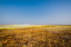 Ethiopia, Danakil depression, geological formations royalty free stock images