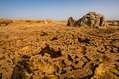 Ethiopia, Danakil depression, geological formations stock image