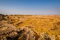 Ethiopia, Danakil depression, geological formations royalty free stock image