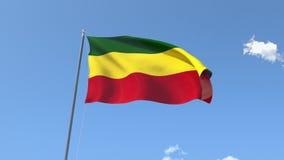 ethiopia flagę ilustracja wektor