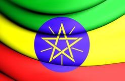 ethiopia flagę Zdjęcia Royalty Free